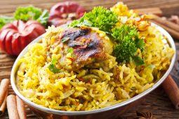 Biryani riz au poulet